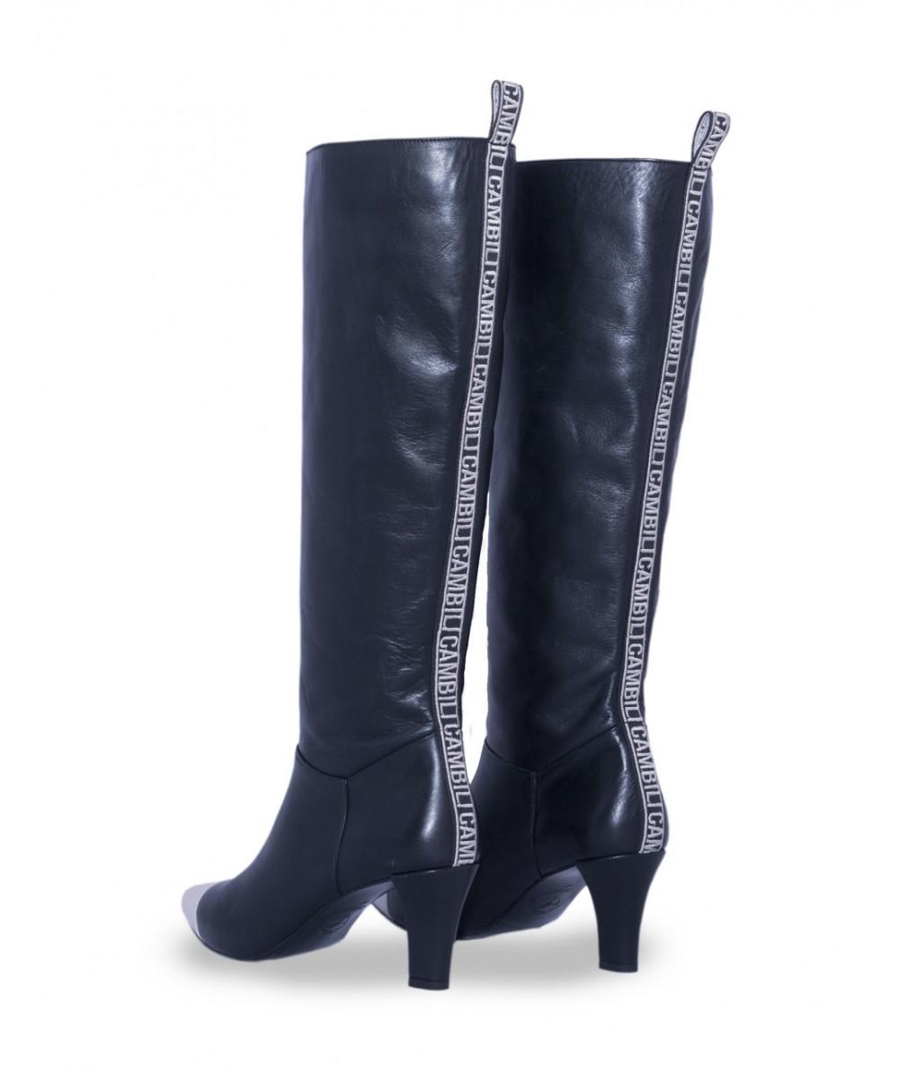 6c77fd534 Comprar Bota Camille Alta de Piel Negra para Mujer - Cambili