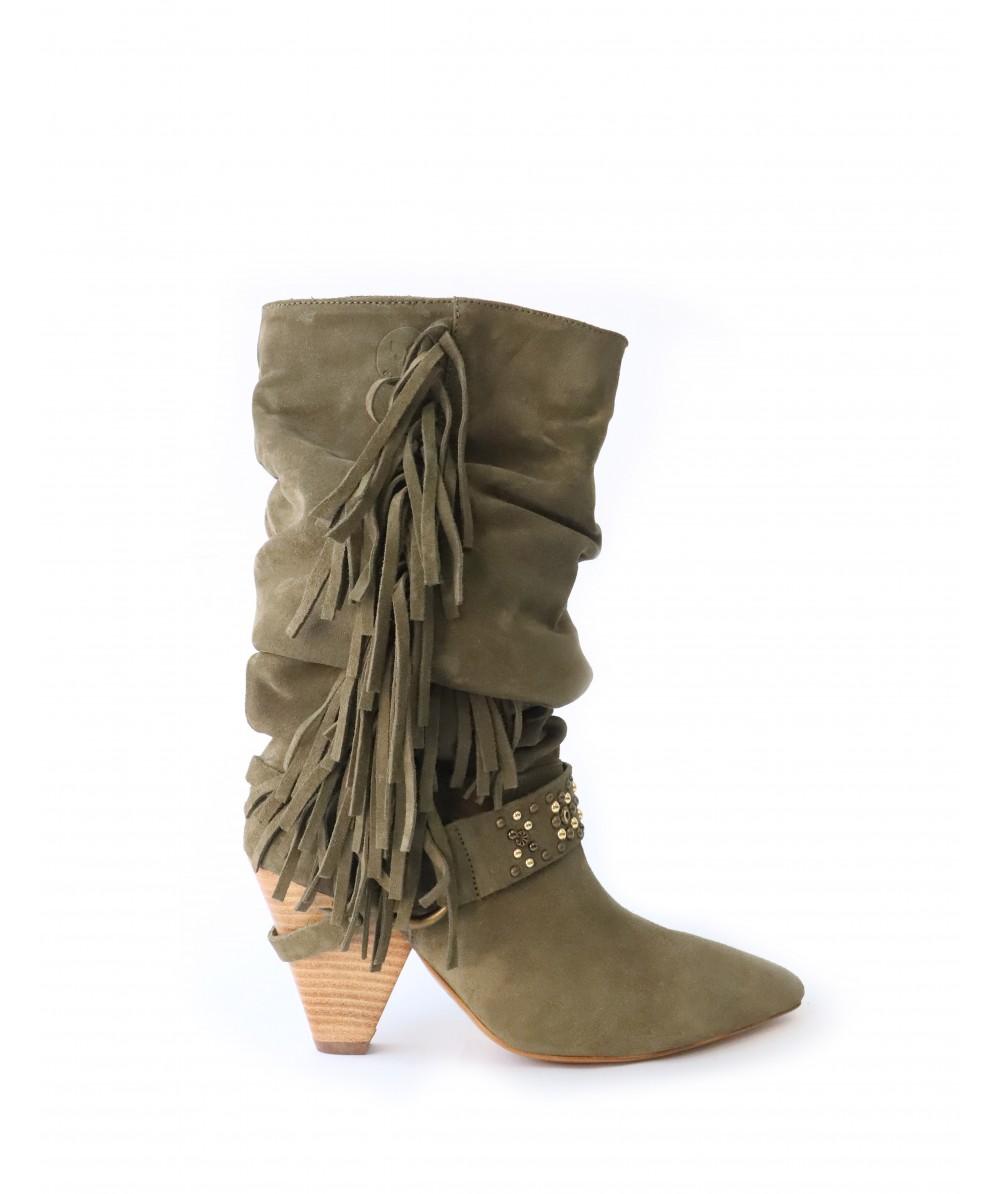Amy Khaki Boots