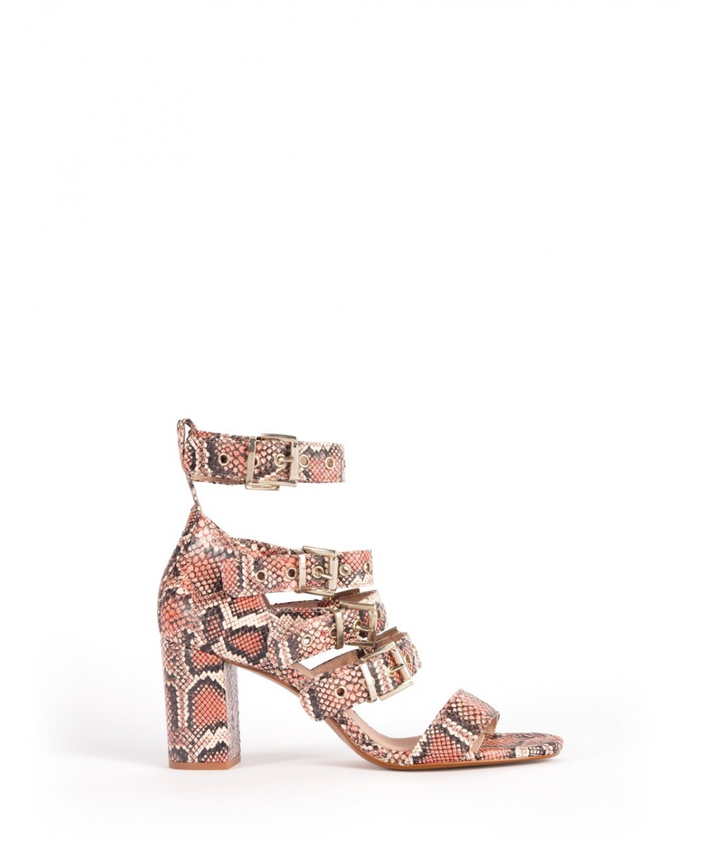 Red boa Sabrine heel sandal
