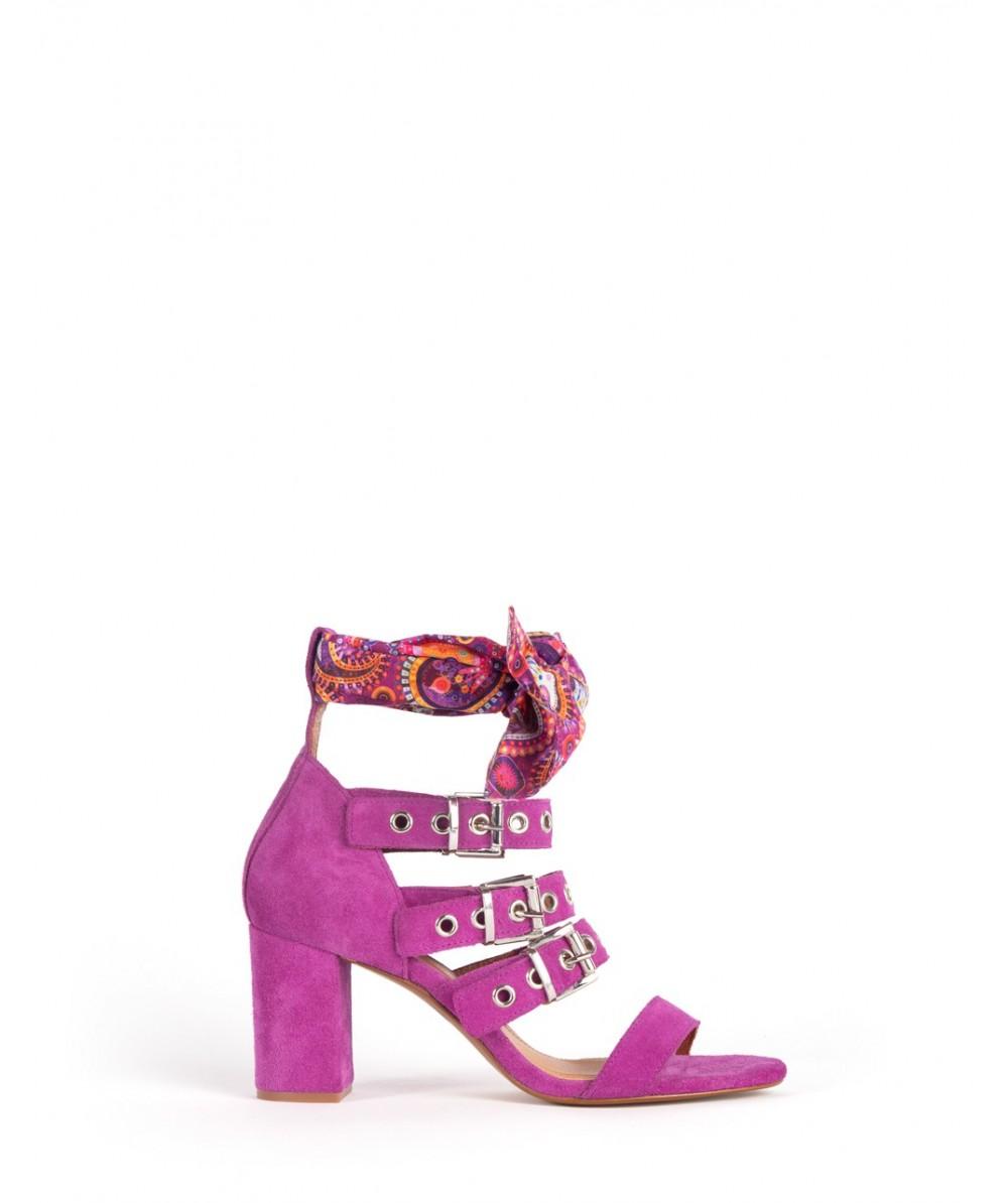 Verbena Sabrine ankle wrap heel sandal
