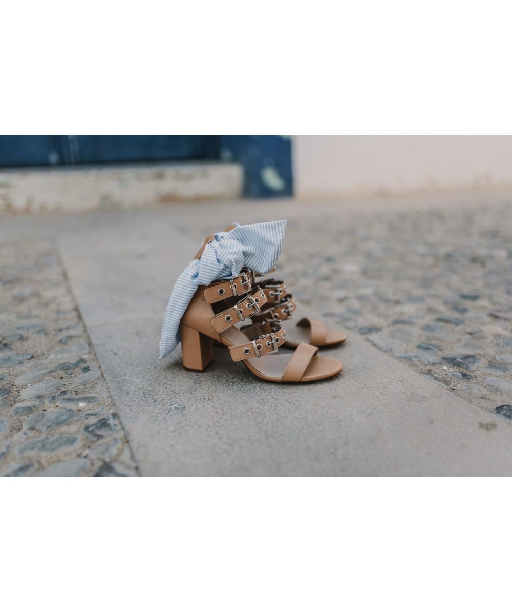 Wrap Nude Sabrine Ankle Sandal Heel j34ARq5L