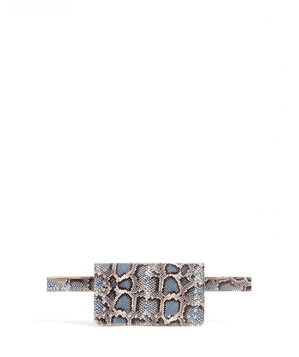 Turquoise Boa belt bag
