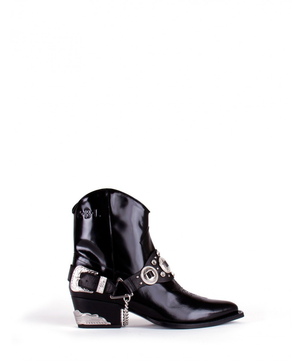 Rodeo cowboy ankle boots
