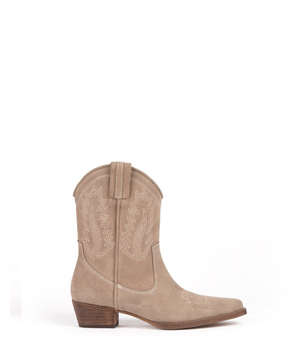 Bota cowboy Laurie taupe