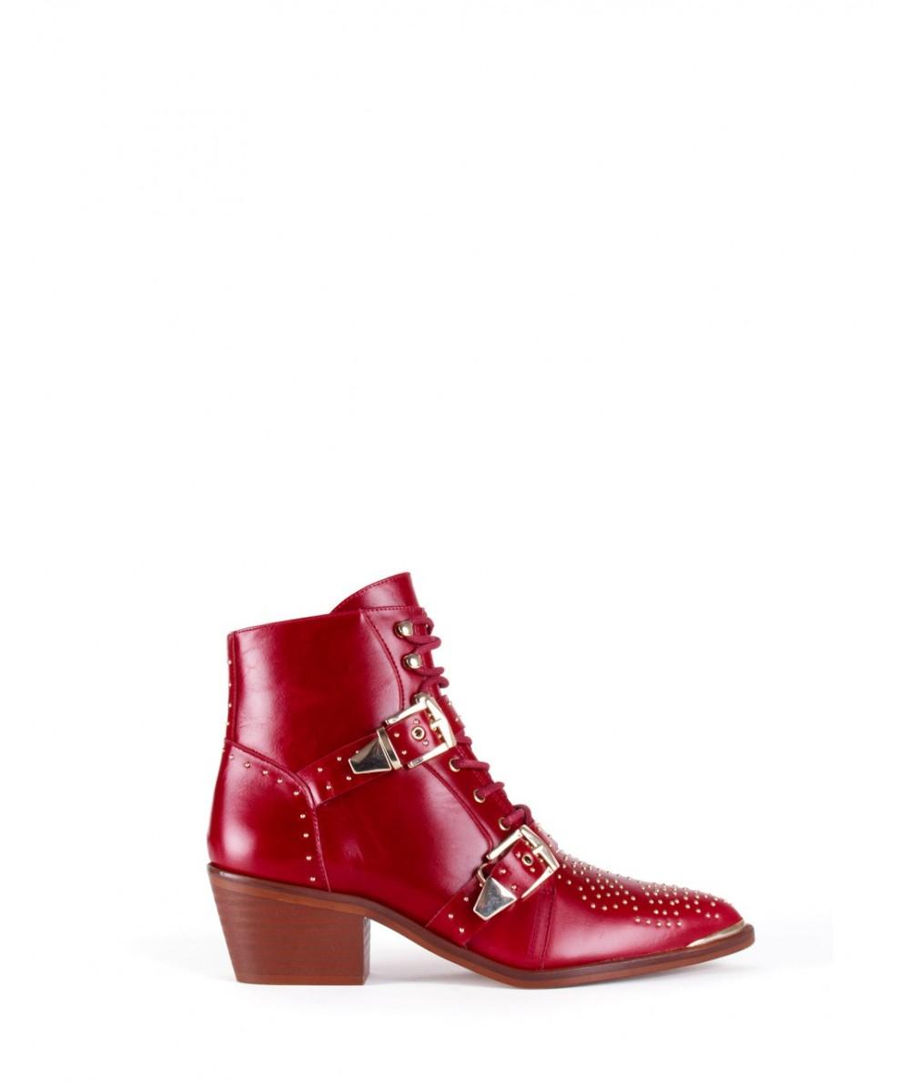 Burgundy Gigi ankle boots