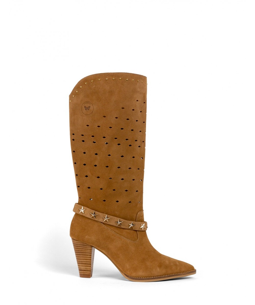 Zoe slouch heeled boots