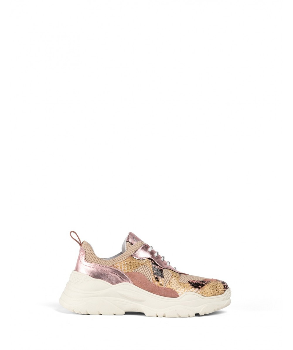 Pink Pyton Sneakers