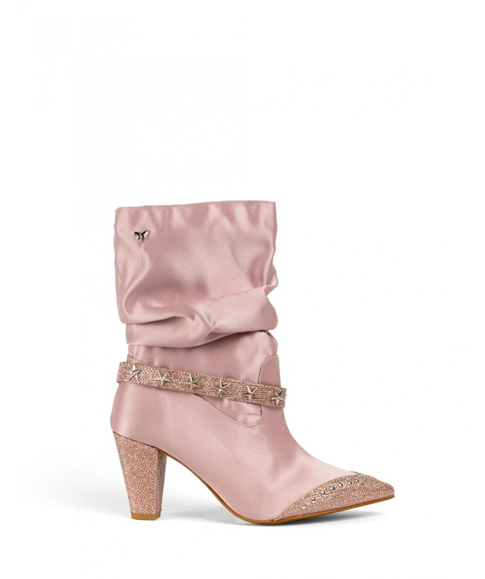 Pink Lady heeled boots