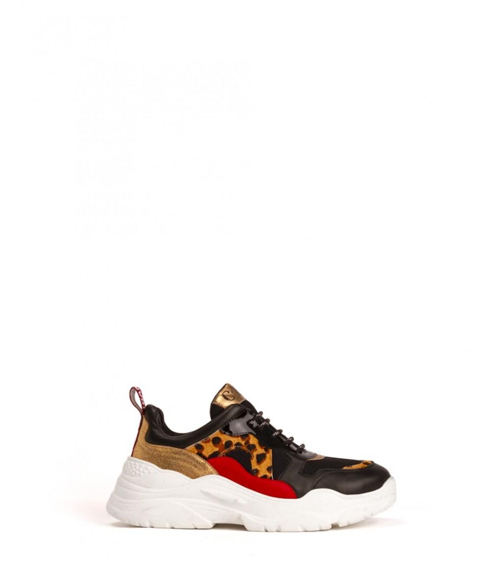 Gold Guepard Sneaker